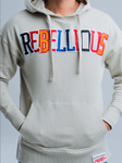 Rebellious Clothing Co. UNISEX CUT&SEW VARSITY PULLOVER HOODIE - GHOST
