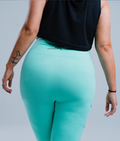 Rebellious Clothing Co. WOMEN'S HIGH-WAISTED REBEL YOGA LEGGINGS - TIFFANY BLUE
