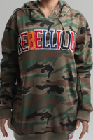 Rebellious Clothing Co. UNISEX LOOSE-FIT VARSITY PULLOVER HOODIE - CAMOUFLAGE