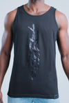 Rebellious Clothing Co. T-MONEY DISTRESSED TANK - NOIR