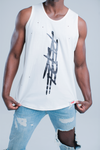 T-MONEY DISTRESSED TANK - WHITE