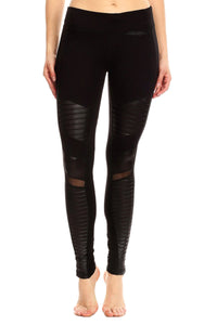 WOMENS HIGH WAIST SOFT LEATHER LEGGINGS