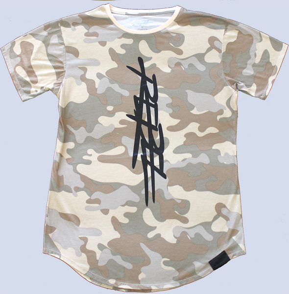 T-MONEY DISTRESSED SHORT SLEEVE - CAMOUFLAGE