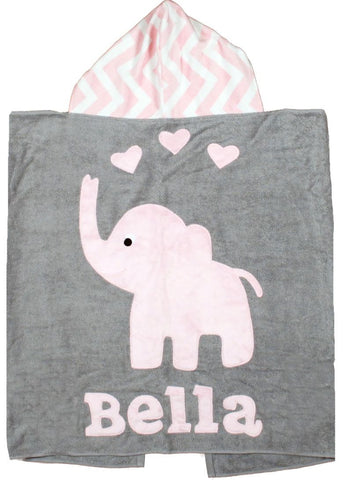 Boogie Baby Custom Elephant Hooded Towel