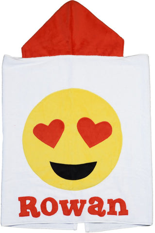 Boogie Baby Custom Heart Eye Emoji Hooded Towel