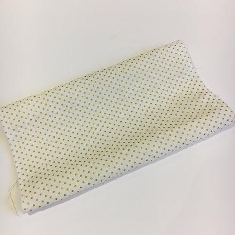 Bebe Chic Custom changing pad cover in Tiny Dots Ivy/Gold