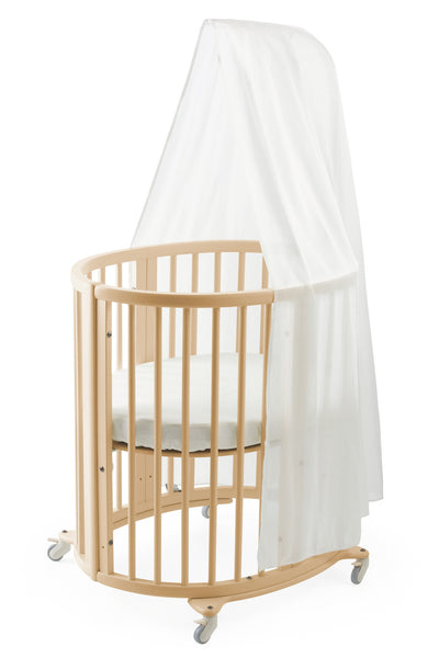 Stokke Sleepi Mini Crib, Drape Rod & Mattress Bundle