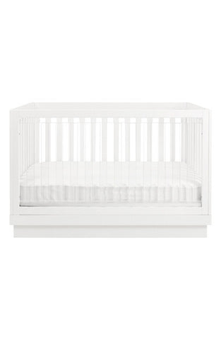 Harlow 3-in-1 Convertible Crib w/Toddler Bed Conversion Kit (Acrylic)
