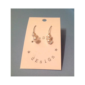 Wire Balance Earrings - silver plate - eDgE dEsiGn London