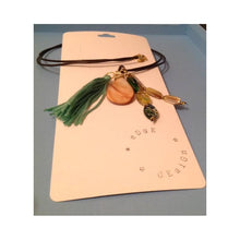 Multi-strand pendant - Gold, Green, Pearl, Venetian Glass and Tassel - eDgE dEsiGn London