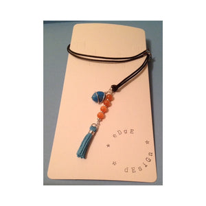 Leather Necklace with Pendants - eDgE dEsiGn London