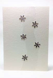 Original Hand Painted Christmas Card - Snowflake Collection - Grey/Black - eDgE dEsiGn London