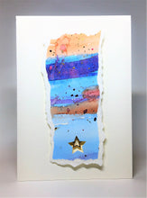 Original Handcrafted Christmas Card - Star Collection - Blue, Purple, Orange and Gold - eDgE dEsiGn London