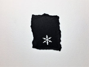Original Handcrafted Christmas Card - Star Collection - Black with Silver Star - eDgE dEsiGn London