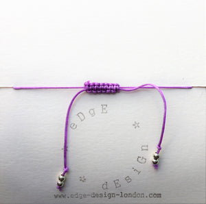 Lilac cord bracelet - Antique Mother of Pearl Nacre - Colour and Charm Collection