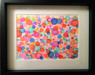 Abstract Circles - Framed Original Watercolour Painting - eDgE dEsiGn London