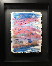 Abstract Blue/Pink/Purple and Gold Watercolour - Framed - eDgE dEsiGn London