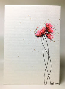 Original Hand Painted Greeting Card