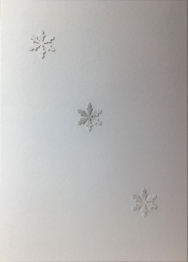 Christmas Card - Diagonal snowflakes with hint of silver - eDgE dEsiGn London