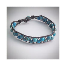 Mens hand stitched beaded design bracelet - eDgE dEsiGn London