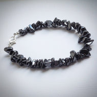 Men's Beaded bracelet - Hematite Chip Beads - eDgE dEsiGn London