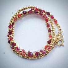 Beaded Lacelet - Necklace and bracelet - Gold and Swarovski Crystals - eDgE dEsiGn London