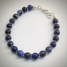 Beaded bracelet - Blue Sodalite - eDgE dEsiGn London