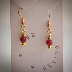Gold Plated Drop Earrings - eDgE dEsiGn London