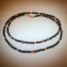 Beaded Necklace - Tigers Eye, Jade, Jasper, Glass and Wooden Beads - eDgE dEsiGn London