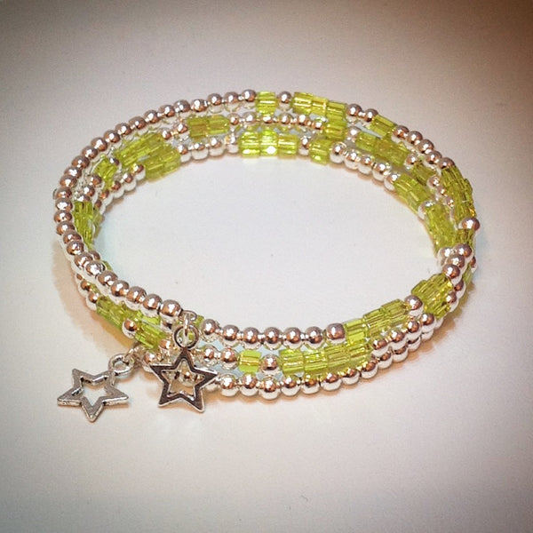 Beaded memory wire bracelet - eDgE dEsiGn London