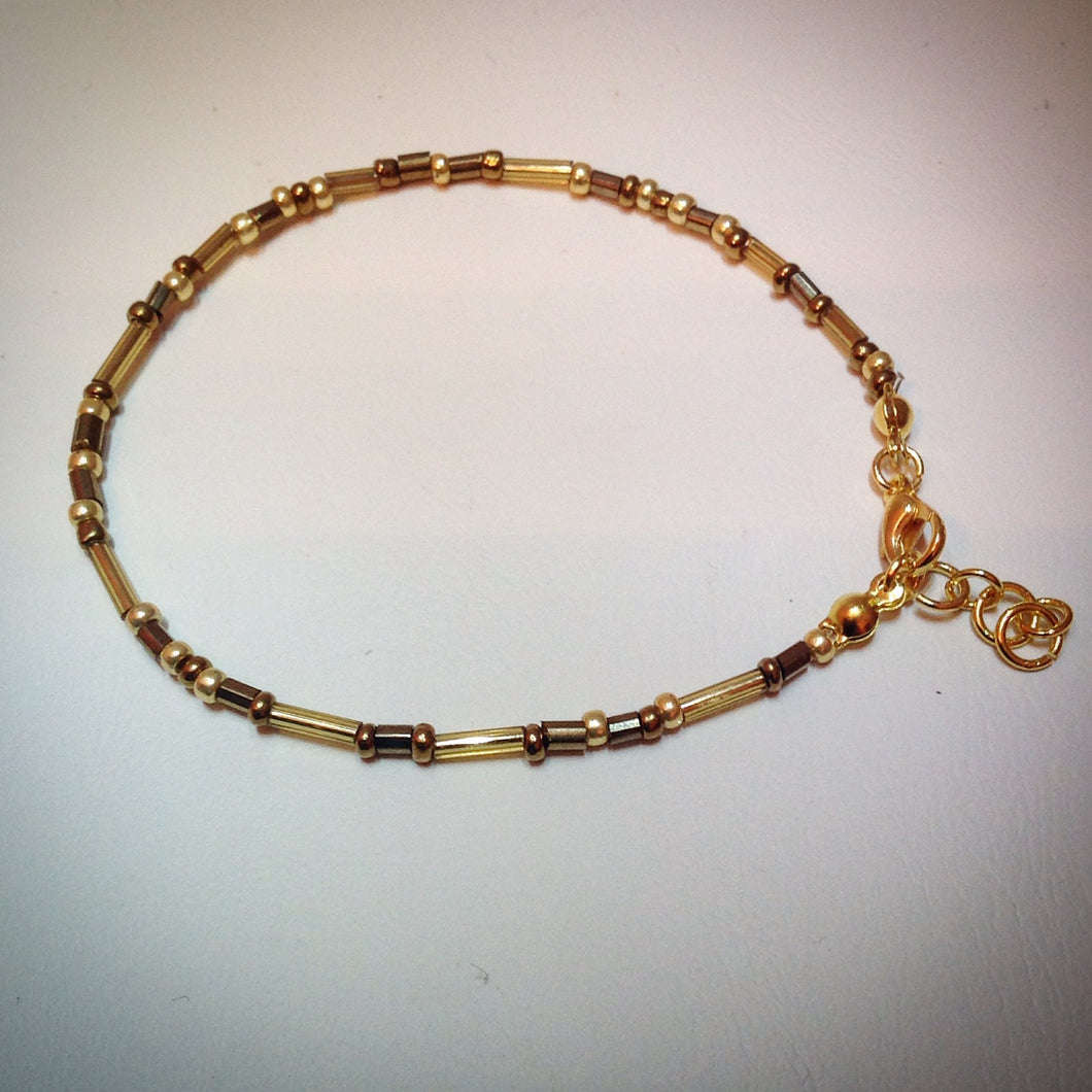 Gorgeous Gold Beaded Bracelet - eDgE dEsiGn London