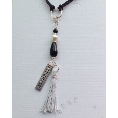 Cord Necklace with Single Pendant - eDgE dEsiGn London
