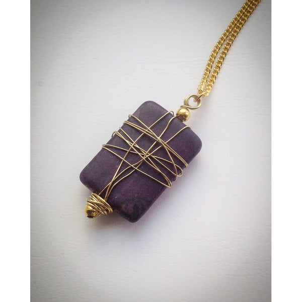 Gold plated chain with Pendant - eDgE dEsiGn London