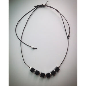 Sliding Knot Leather effect Cord Necklace - eDgE dEsiGn London