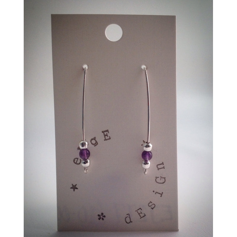 Wire Balance Earrings - Silver plated - eDgE dEsiGn London