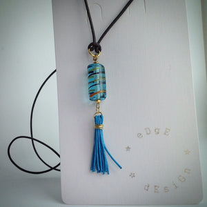 Leather Necklace with Single Pendant - eDgE dEsiGn London