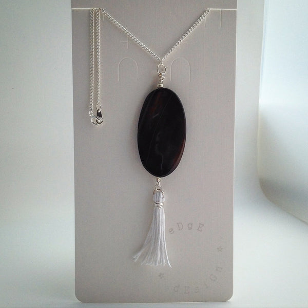 Silver plated chain with Pendant - eDgE dEsiGn London