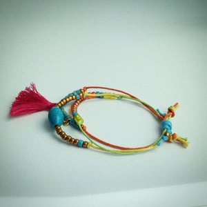 Sliding Knot Colour Cord Bracelet - eDgE dEsiGn London