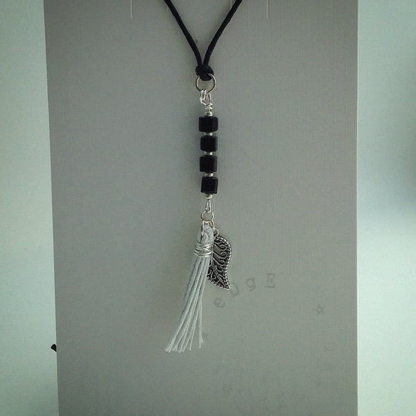 Cord Necklace with Pendant - eDgE dEsiGn London
