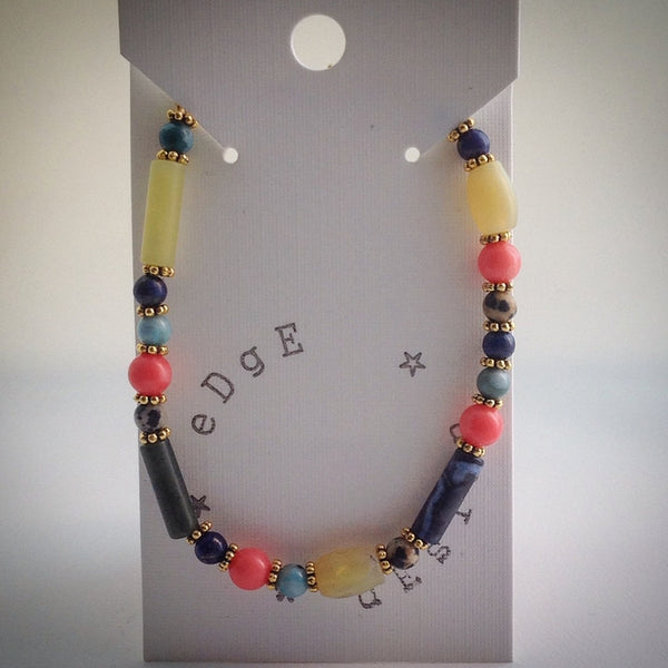Beaded Bracelet - assorted semi-precious beads - eDgE dEsiGn London
