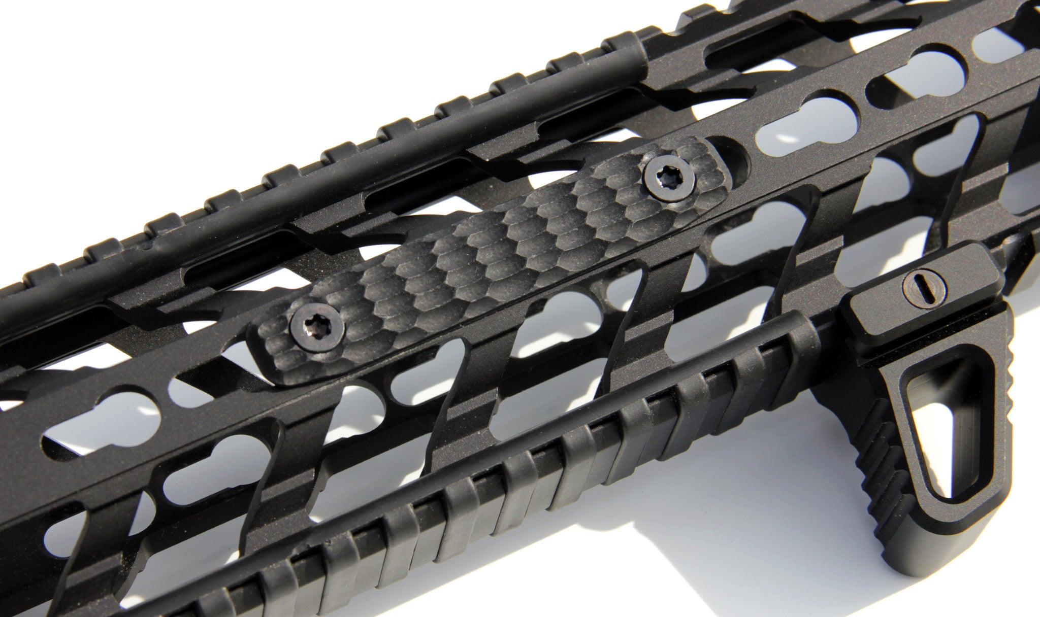 Mechforce G10 Scale Hand Grip Panel, Keymod Rail Handguard Cover, 4 Sl