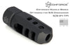muzzle brake commentator device flash hider ar15 ar 15 rilfe gun firearm design 6.5 creedmoor