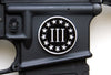 Tactical Freedom - Magwell Metal Decal / Sticker -  Three Percenter