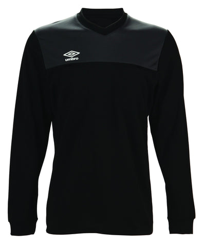 Umbro Caution Long Sleeve Referee Jersey (Black, Yellow)
