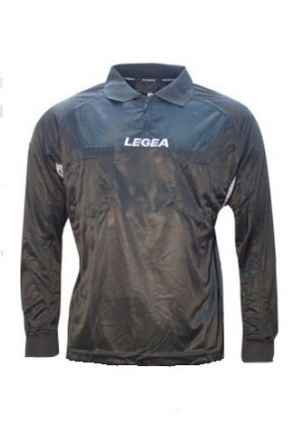 ** Medium ** Legea Black Long Sleeve Referee Jersey (Clearance)