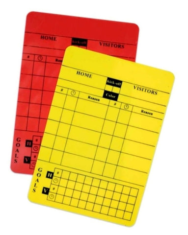 Yellow and Red Write-on Cards