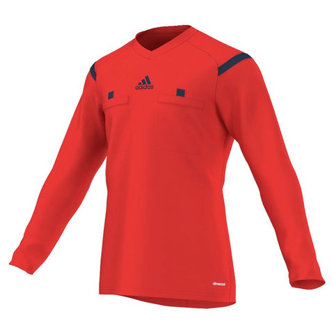 Adidas 14 Referee Jersey Long Sleeve - Hi Resolution Red
