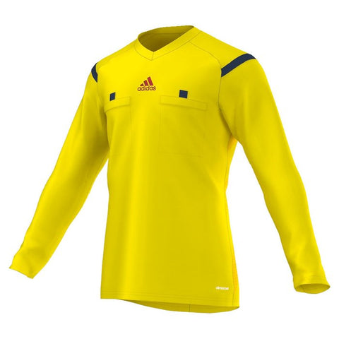 Adidas 14 Referee Jersey Long Sleeve- Vivid Yellow (Clearance)