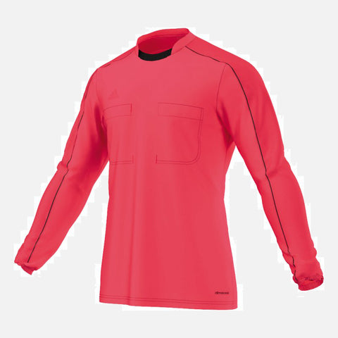 Adidas 16 Long Sleeve Referee Jersey - Shock Red