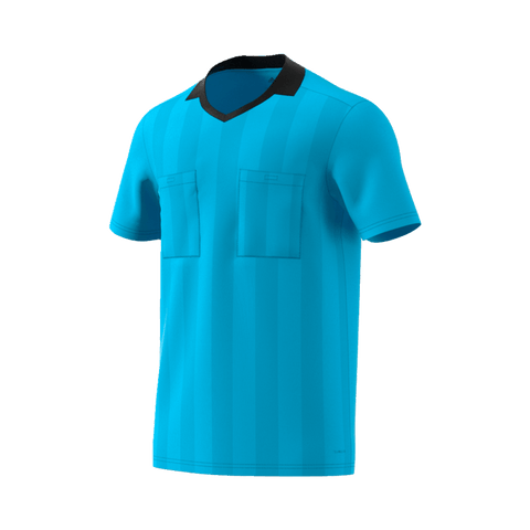 Adidas 18 Short Sleeve Referee Jersey - Bright Cyan (Light Blue)